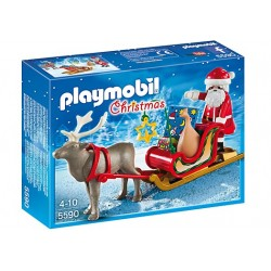Trineo de Papá Noel con Reno
