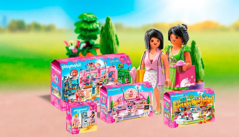 Playmobil City Life 9087 - Paseo Comercial con 3 tiendas