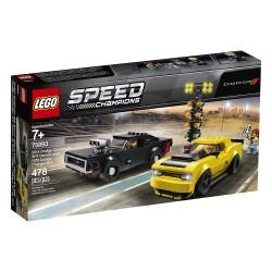 Lego 75893 Dodge Challenger SRT Demon de 2018 y Dodge Charger R/T de 1970