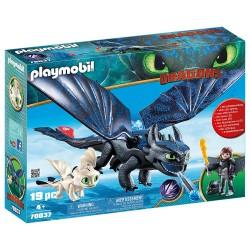 Playmobil 70037 Hipo y Desdentao con Bebé Dragón