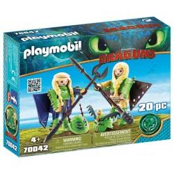 Playmobil 70042 Chusco y Brusca con Traje Volador