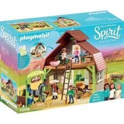 Playmobil 70118 Establo con Fortu, Pru y Abigaíl