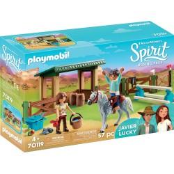 Playmobil 70119 Paddock con Fortu y Javier