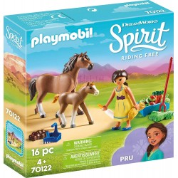 Playmobil 70122 Pru con Caballo y Potro