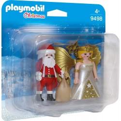 Playmobil 9498 Dúo Pack Papá Noel con Ángel