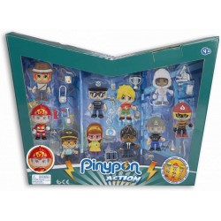 Pinypon Action 700015433 Pack 10 Figuras + 20 Accesorios