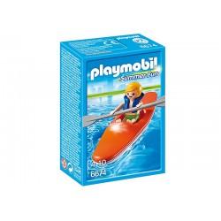Niño con Kayak