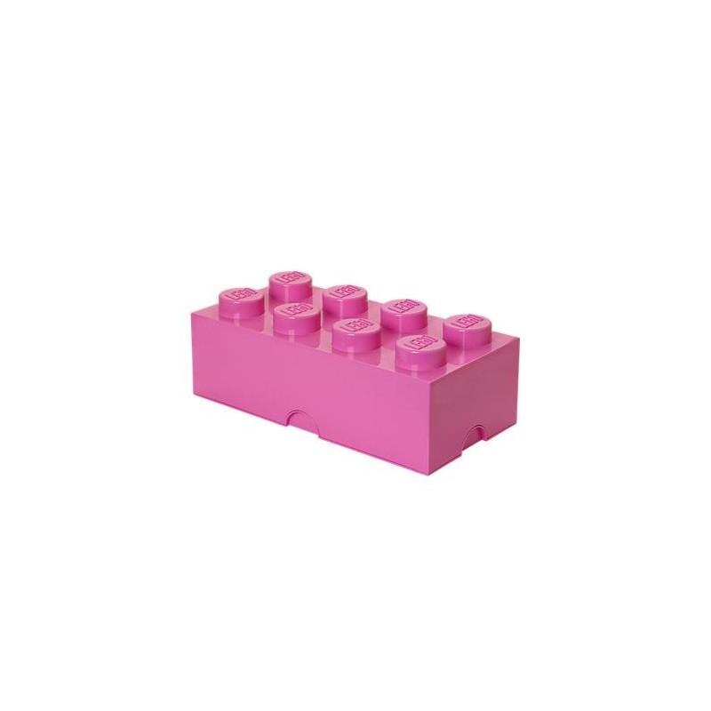 Ladrillo de almacenamiento violeta brillante de 8 espigas LEGO