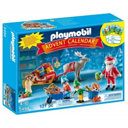 Calendario de Navidad Santa's Workshop con elfos