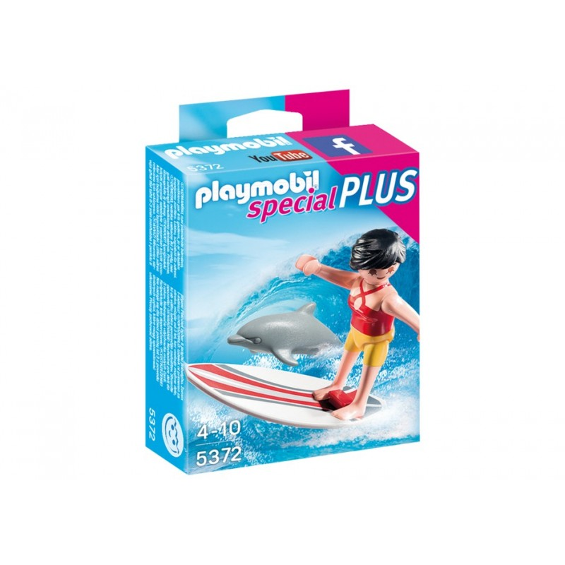 Surfista con Tabla de Surf