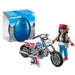 Motorista con Moto
