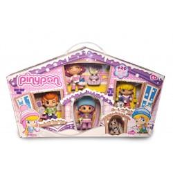 Pinypon 700010268 Juego de 4 Figuras y 2 Pets