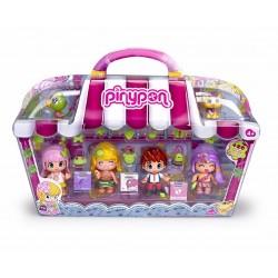 Pinypon 700012060 City, Pack con 4 Figuras y dos mascotas