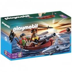 Playmobil 5137 Bote Pirata con Tiburón