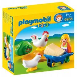 Playmobil 6965 Granjera con Gallinas
