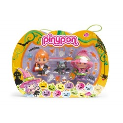 PinyPon 700009686 Set brujasFamosa Pinypon 700009686 Pack brujas - 2 muñecos Pinypon y 1 animal
