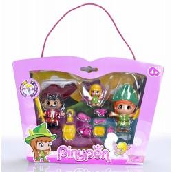 Pinypon 700012738 Peter Pan, Garfio y Campanilla