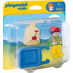 Playmobil 6961 Trabajador con Carretilla