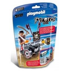 Playmobil 6165 Cañón interactivo negro con corsario