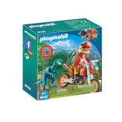 Playmobil 9431 Moto con Velociraptor