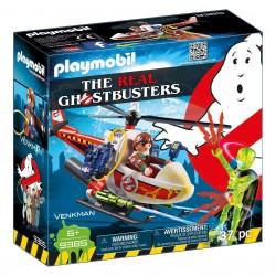 Playmobil 9385 Venkman con Helicóptero