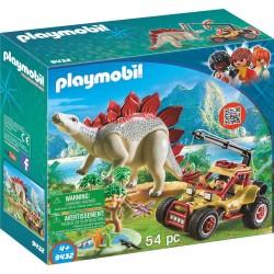 Playmobil 9432 Vehículo Explorador con Estegosaurio