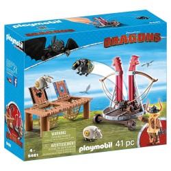Playmobil 9461 Bocón con Lanzadera de Ovejas