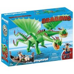 Playmobil 9458 Dragón 2 Cabezas con Chusco y Brusca