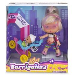 Barriguitas 700012699 Mamá Runner con carrito de bebé