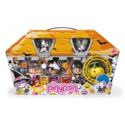Pinypon 700009685 Set de Halloween con figuras y calabaza
