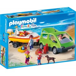 Playmobil 4144 Coche Familiar con Lancha