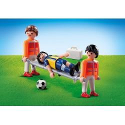 Playmobil 9826 Camilleros y Futbolista
