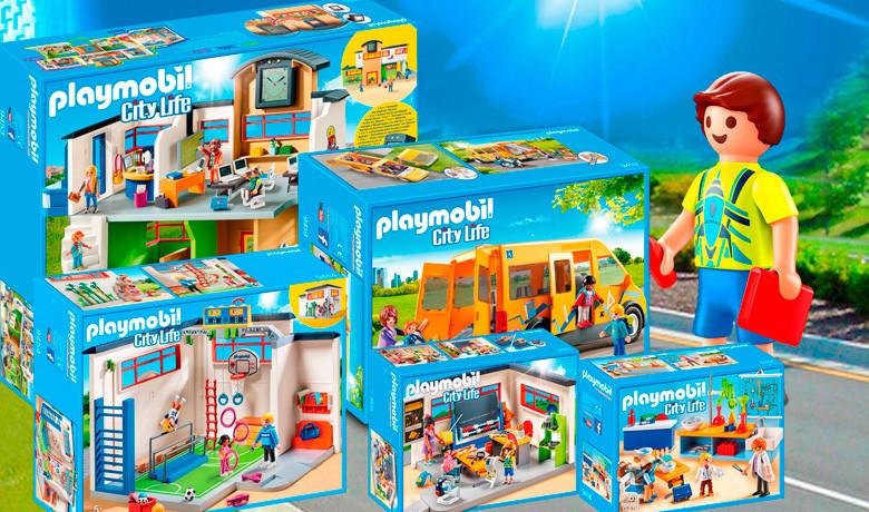 Playmobil City Life - Colegio ,autobus escolar y gimnasio.